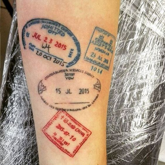 Passport Stamps Tattoos