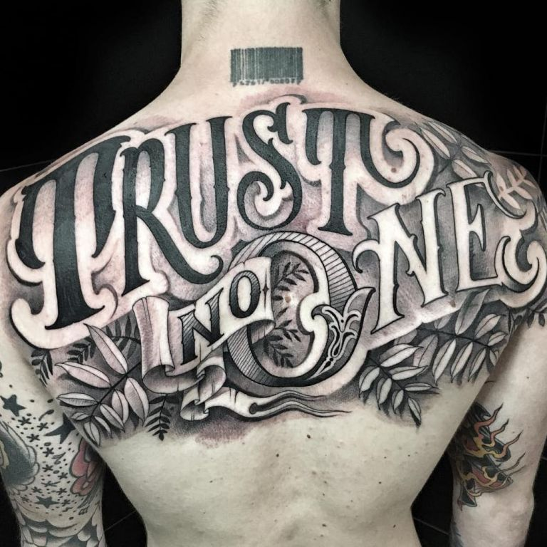 Trust No One Tattoo By Delia Vico