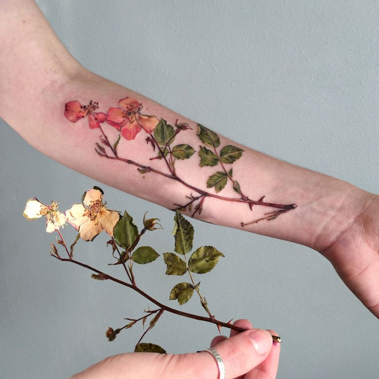Dried Rose Tattoo By Ritkittattoo