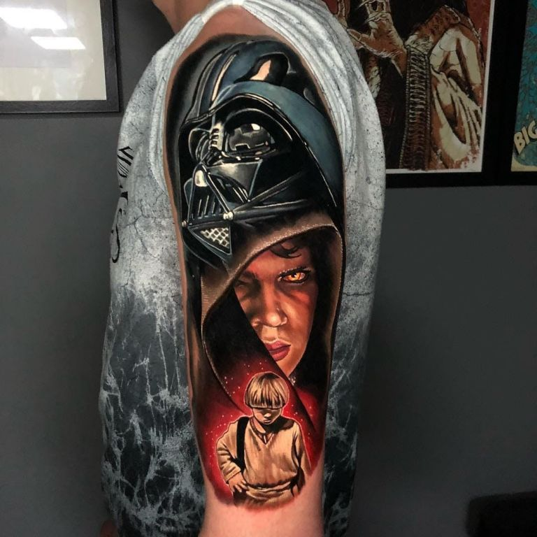 Star Wars Tattoo by Alex Rattray