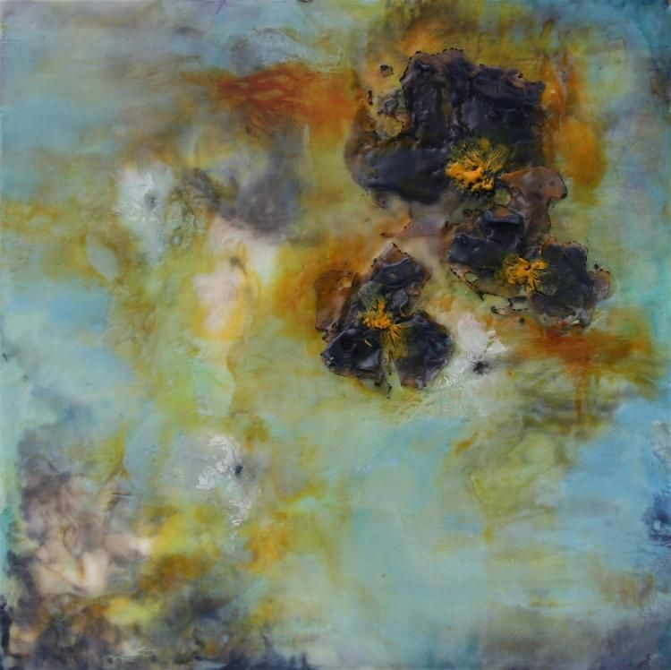 Fallen Flowers I By Emma Ashby, Wax Painting